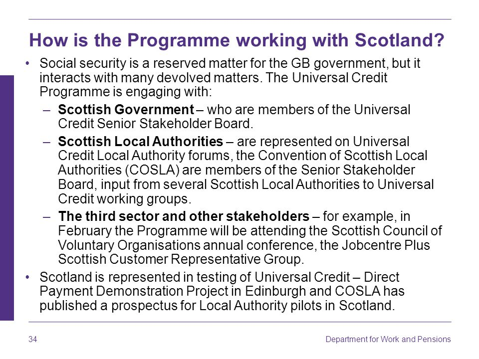 How is the Programme working with Scotland