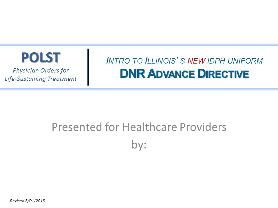 Presented for Healthcare Providers by: