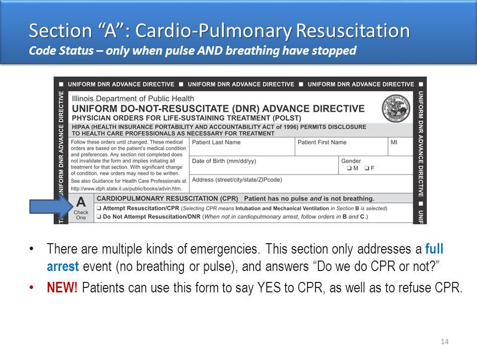 Section A : Cardio-Pulmonary Resuscitation