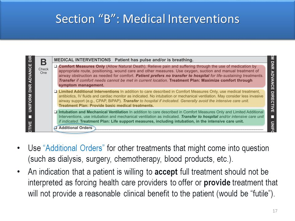 Section B : Medical Interventions