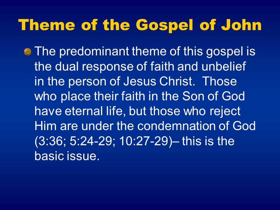 Theme of the Gospel of John