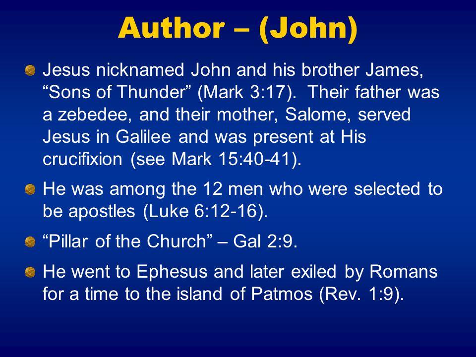 Author – (John)