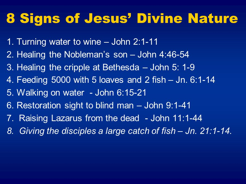 8 Signs of Jesus' Divine Nature
