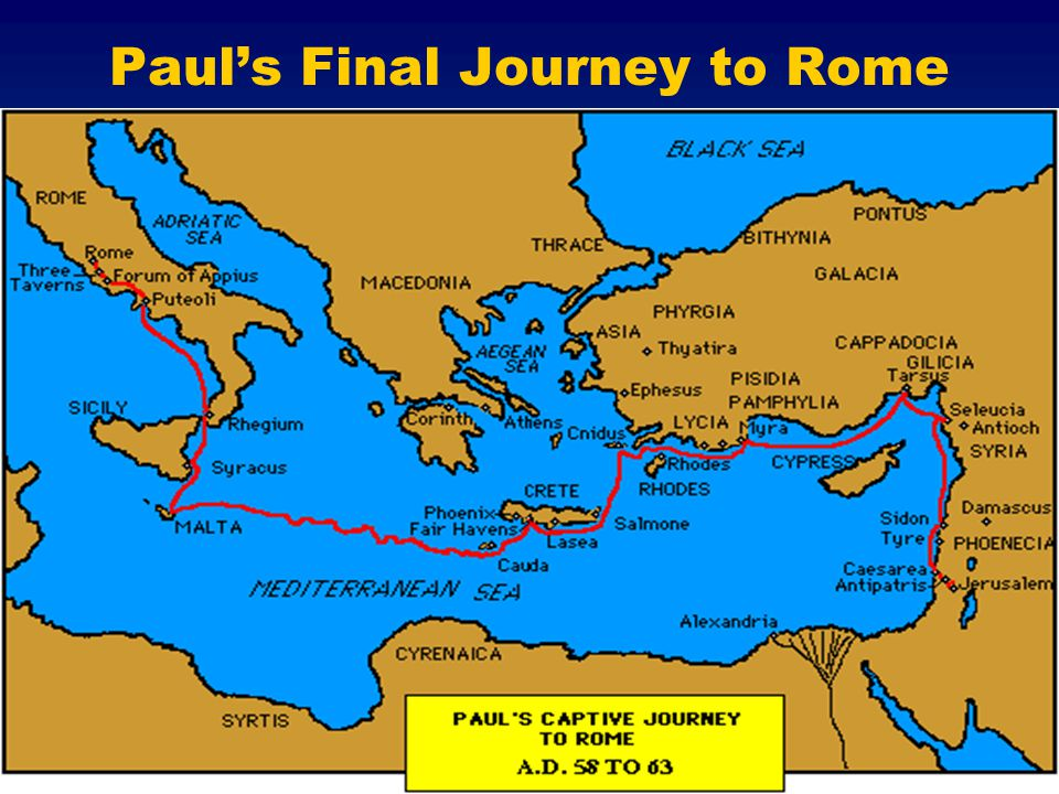 Paul's Final Journey to Rome