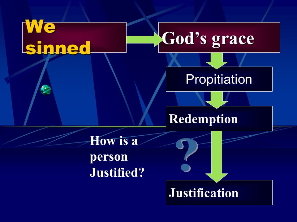 We sinned God's grace Propitiation Redemption How is a person