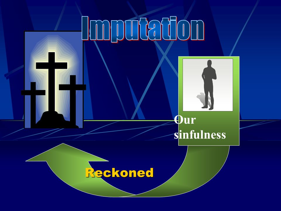Imputation Our sinfulness Reckoned