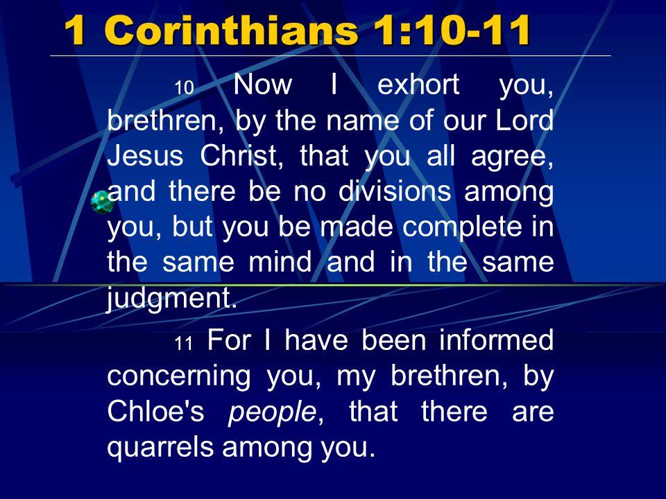 1 Corinthians 1:10-11