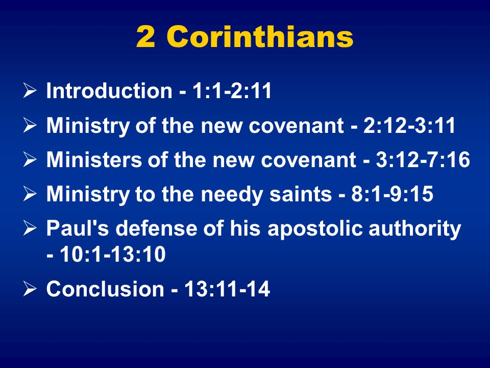 2 Corinthians Introduction - 1:1-2:11
