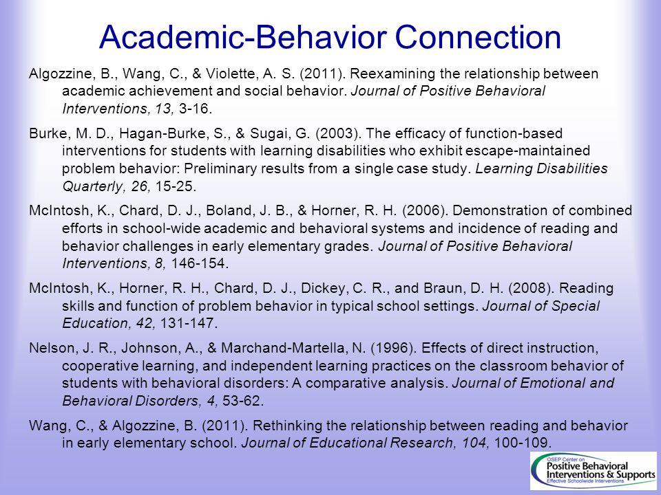 Academic-Behavior Connection