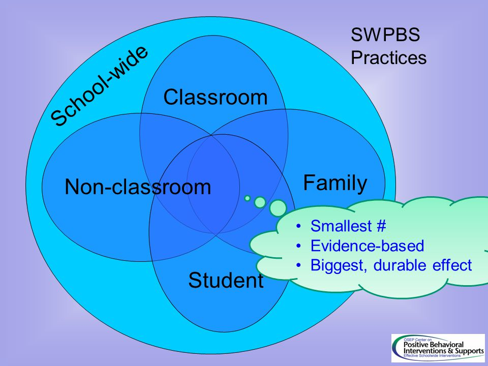 School-wide Classroom Family Non-classroom Student SWPBS Practices