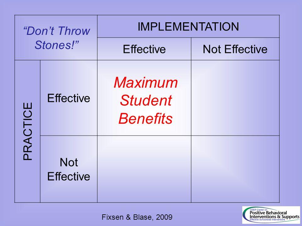 Maximum Student Benefits