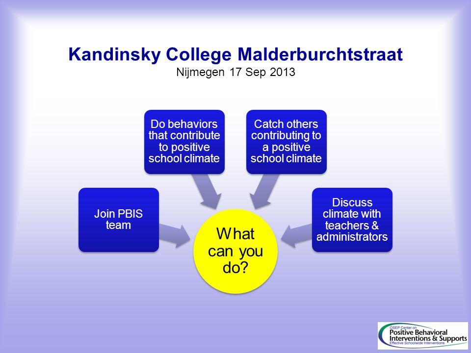 Kandinsky College Malderburchtstraat Nijmegen 17 Sep 2013
