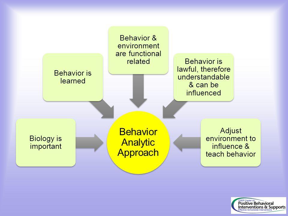 Behavior Analytic Approach