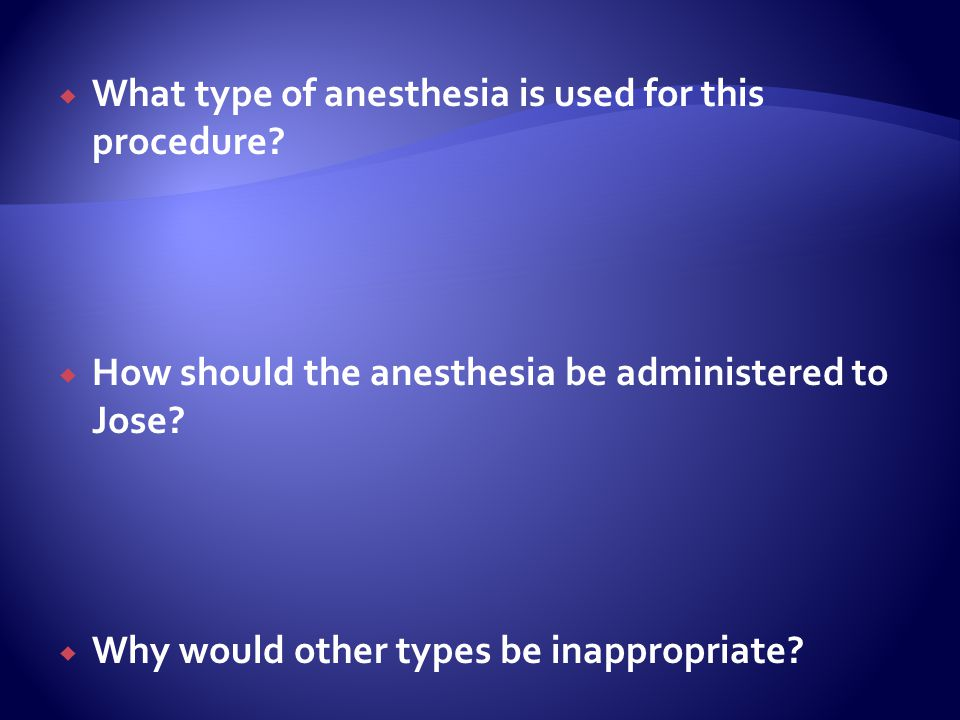 What type of anesthesia is used for this procedure