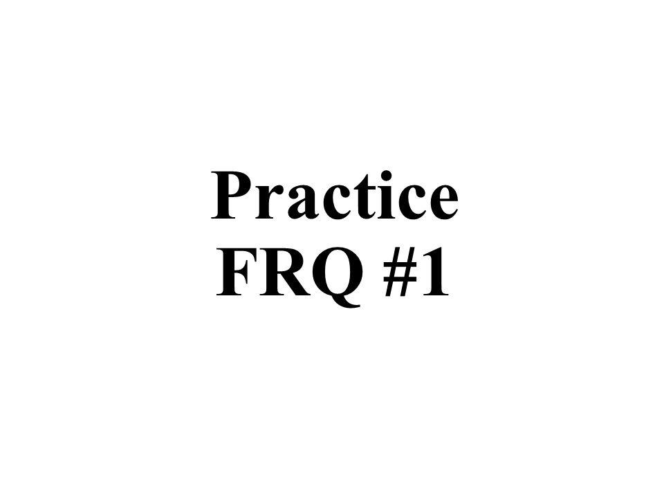 Practice FRQ #1