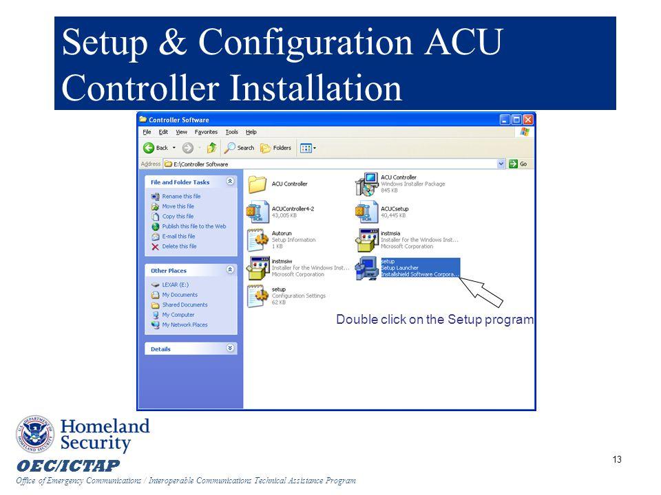 Setup & Configuration ACU Controller Installation