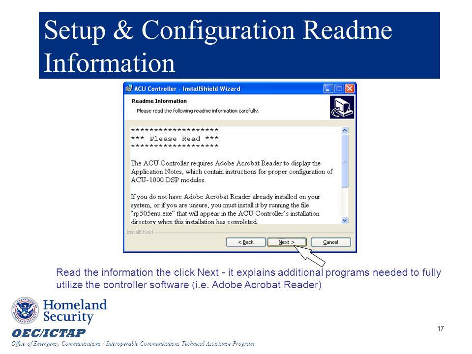 Setup & Configuration Readme Information