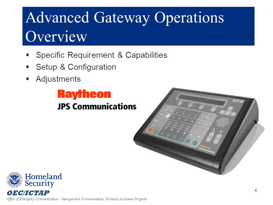 Advanced Gateway Operations Overview