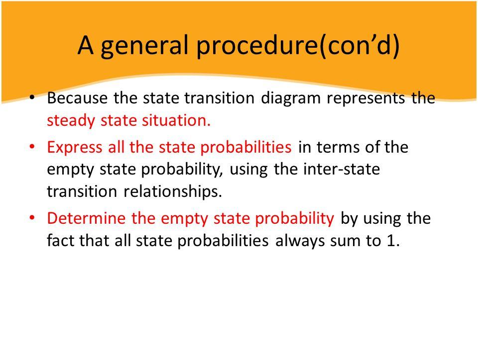 A general procedure(con'd)