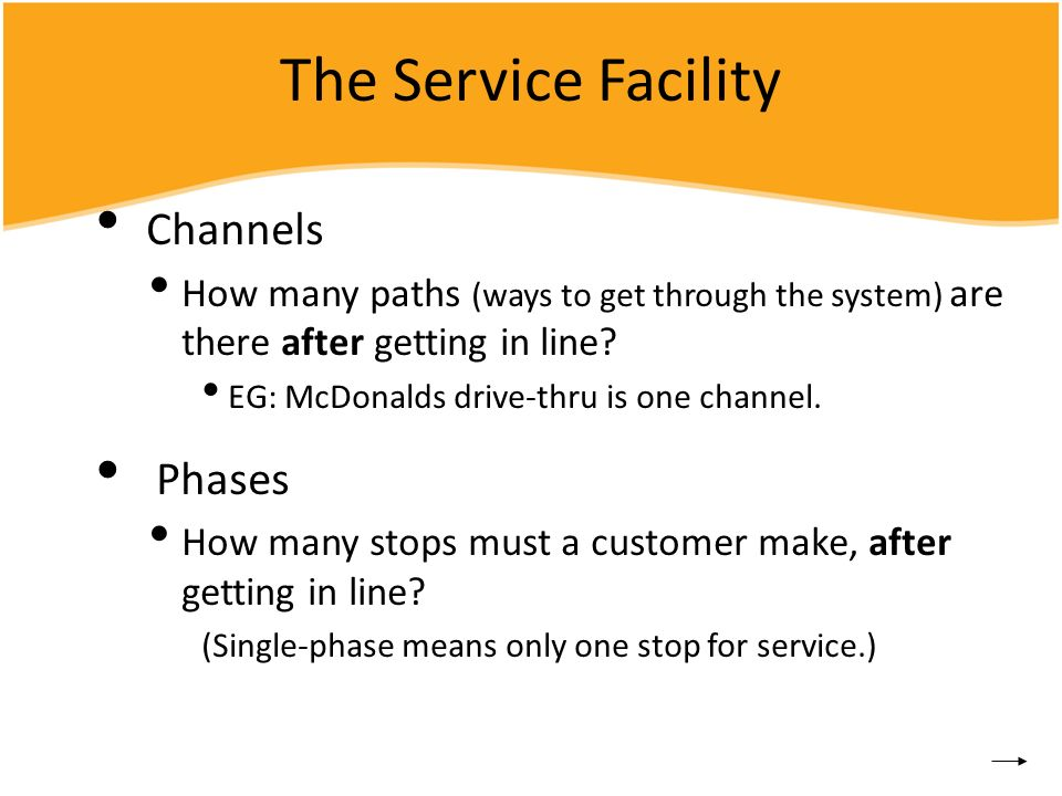 The Service Facility Channels Phases