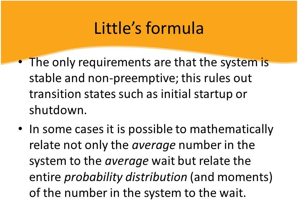 Little's formula