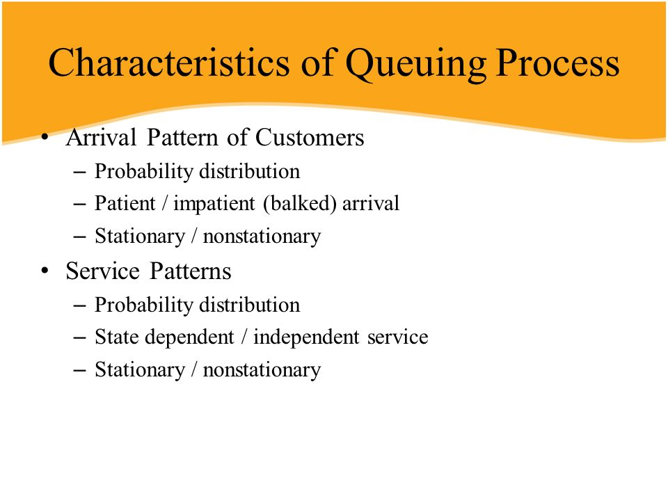 Characteristics of Queuing Process