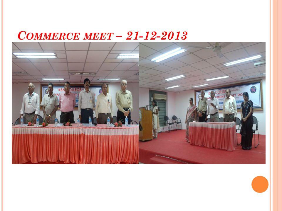 Commerce meet – 21-12-2013