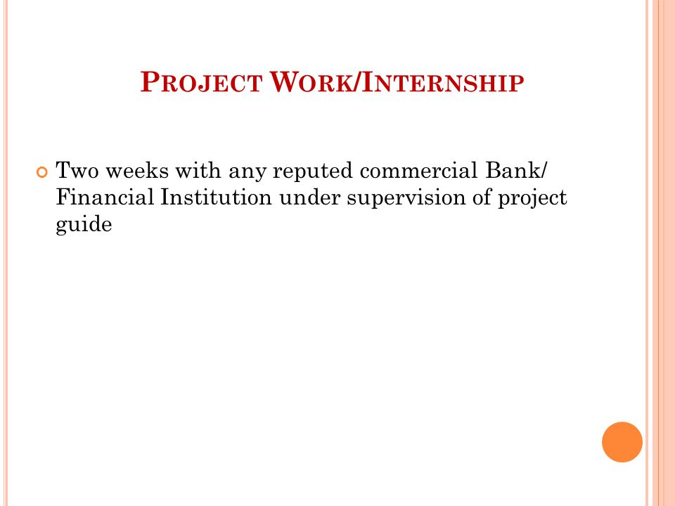Project Work/Internship