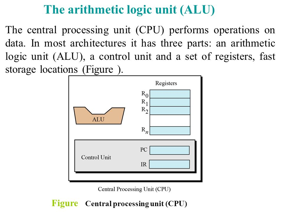 The arithmetic logic unit (ALU)