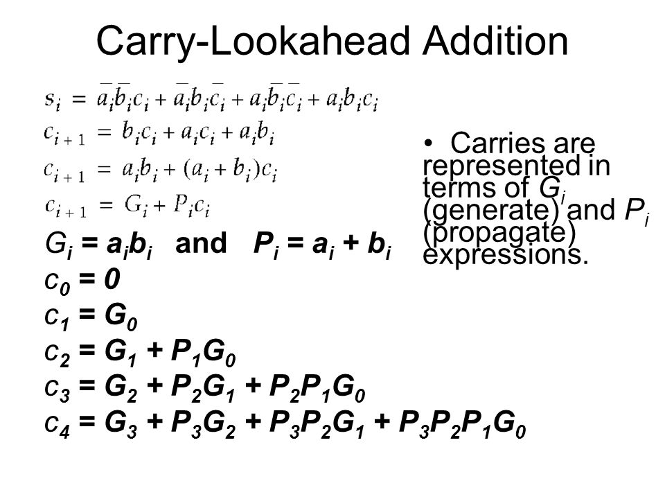 Carry-Lookahead Addition