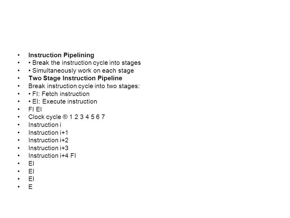 Instruction Pipelining