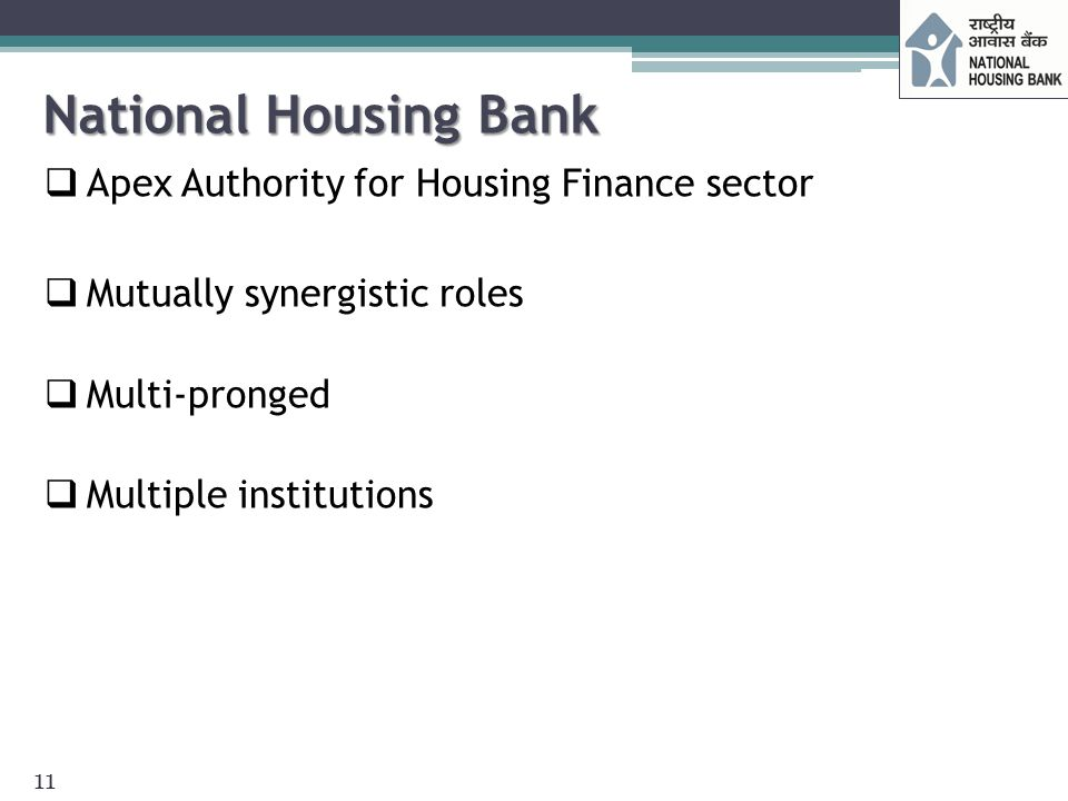 National Housing Bank Apex Authority for Housing Finance sector