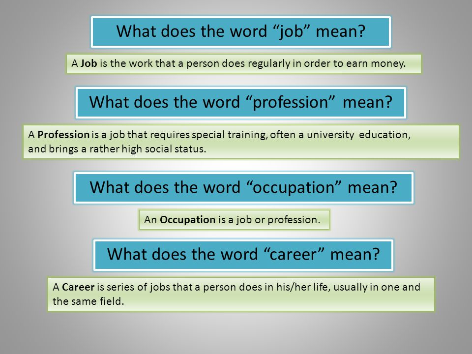 What does the word job mean