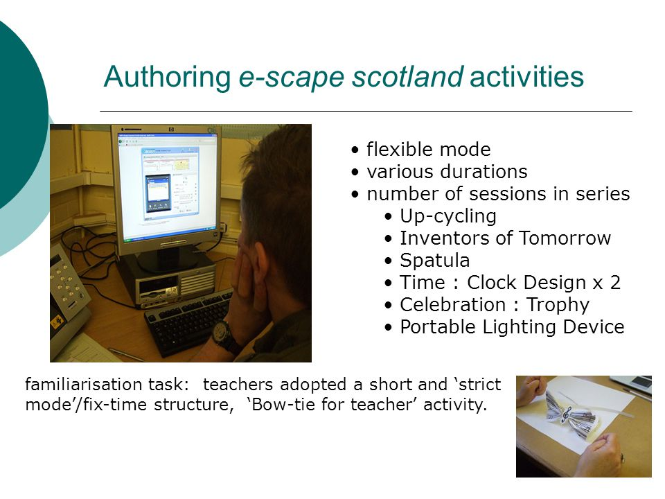 Authoring e-scape scotland activities