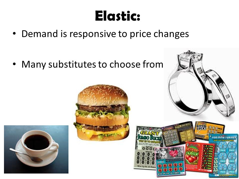 Elastic: Demand is responsive to price changes