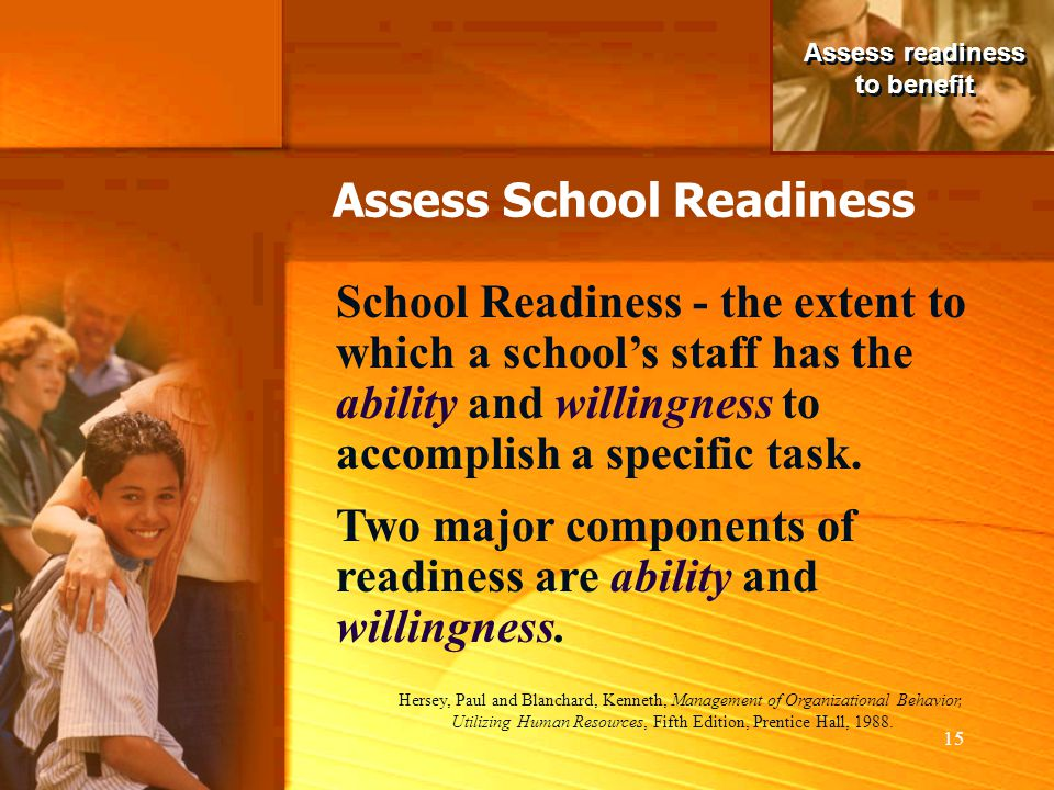 Assess School Readiness
