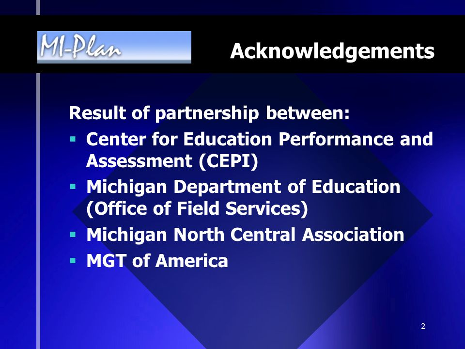 Acknowledgements Result of partnership between: