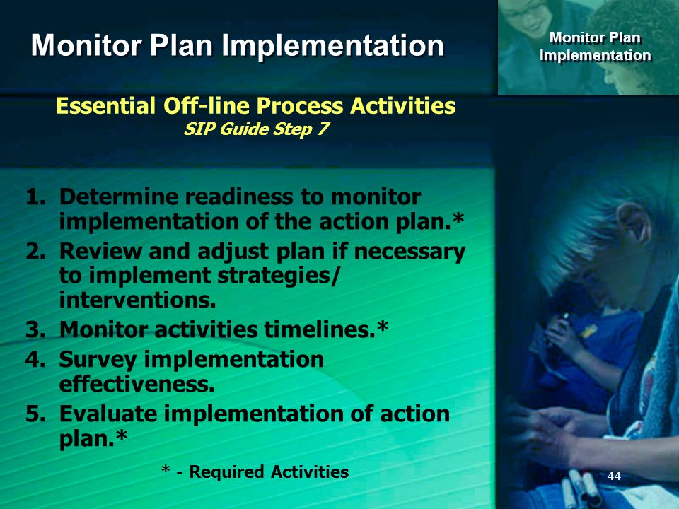 Monitor Plan Implementation