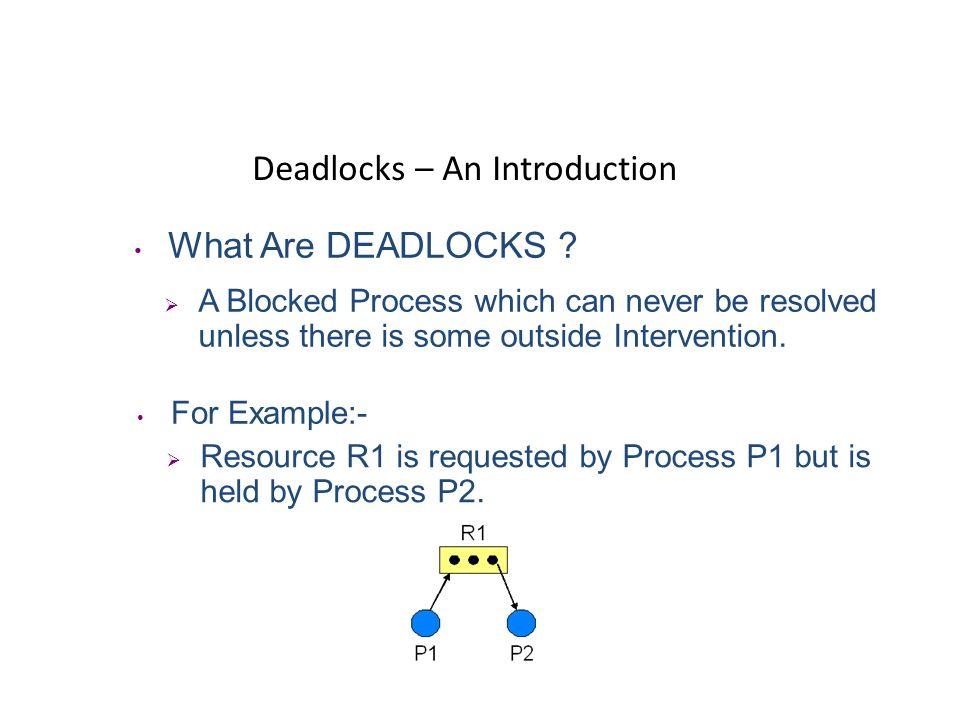 Deadlocks – An Introduction