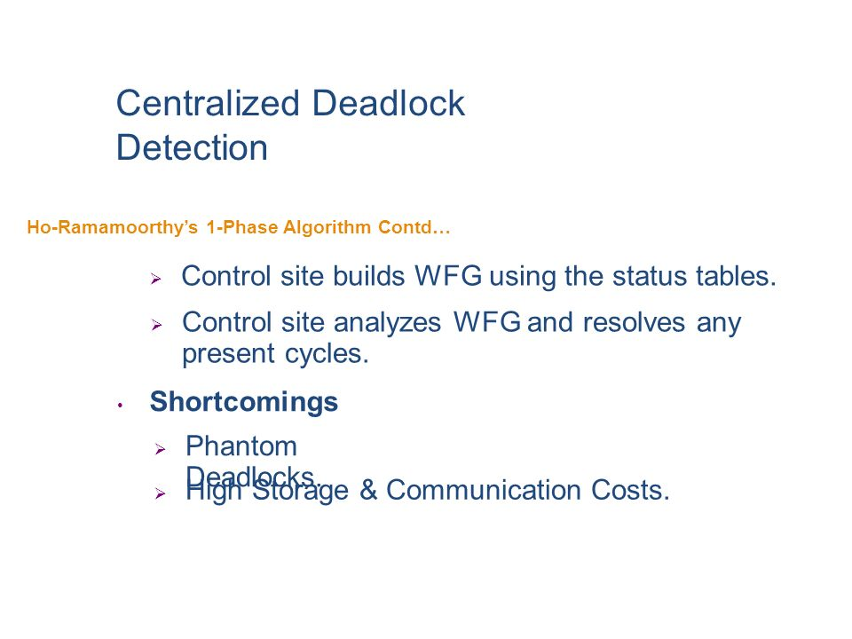 Centralized Deadlock Detection