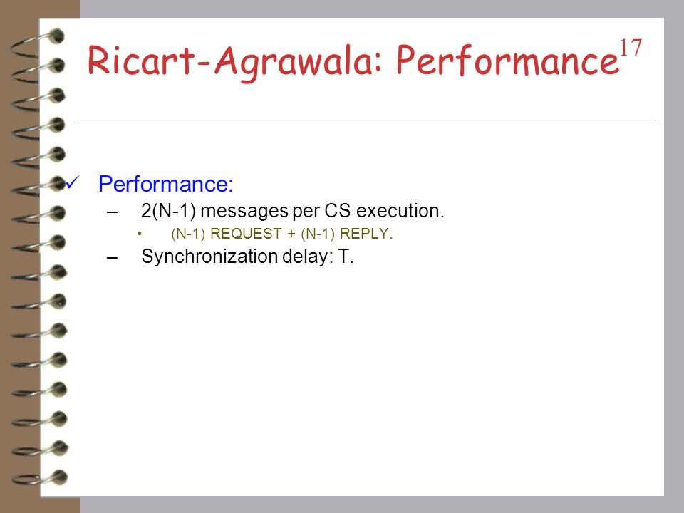 Ricart-Agrawala: Performance