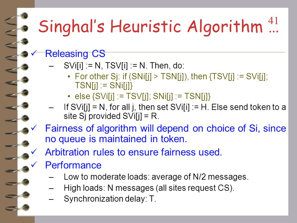 Singhal's Heuristic Algorithm …