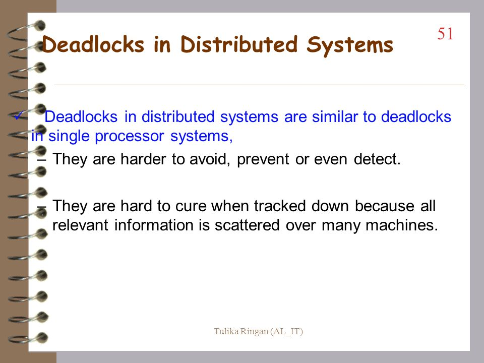 Deadlocks in Distributed Systems
