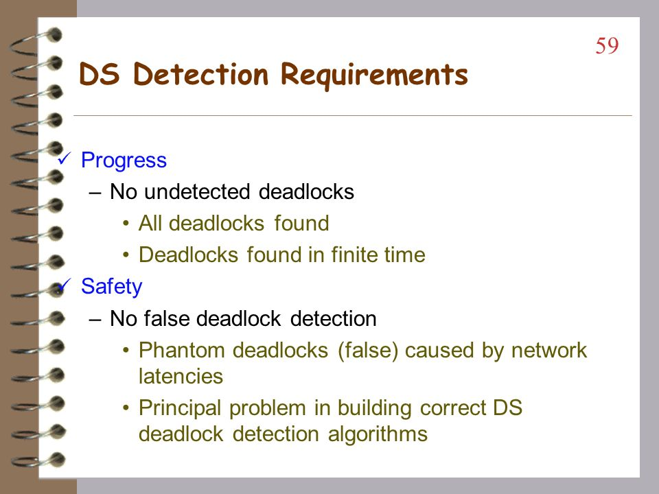 DS Detection Requirements