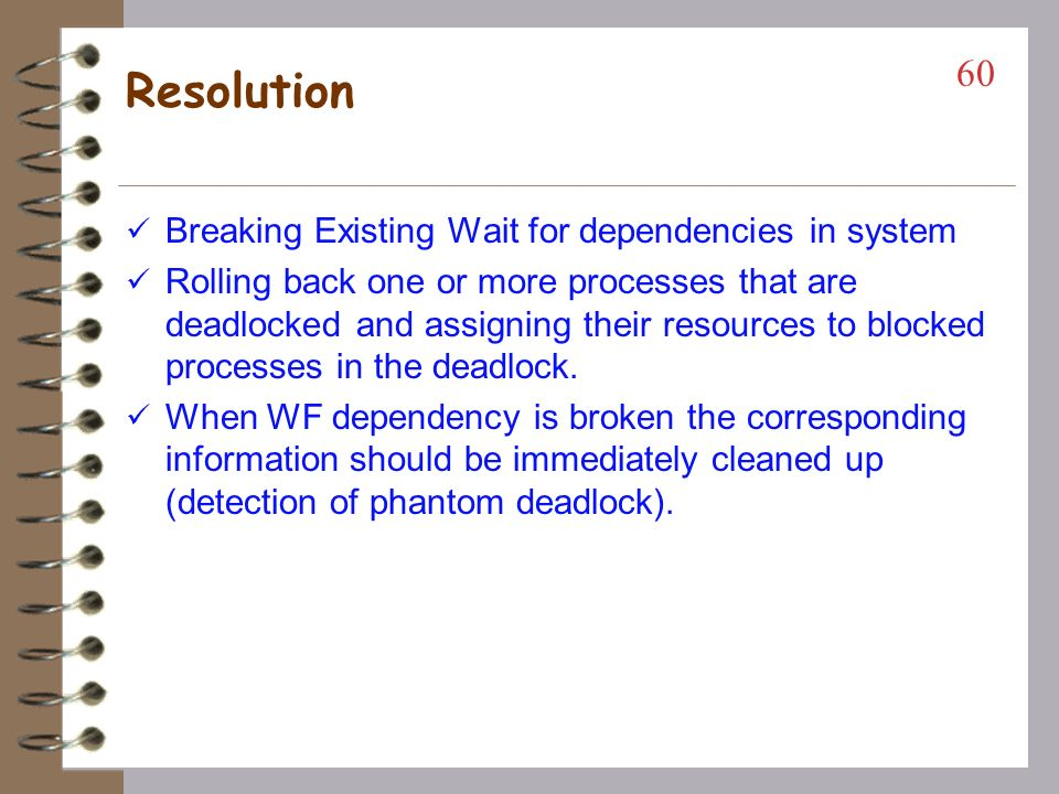 Resolution Breaking Existing Wait for dependencies in system