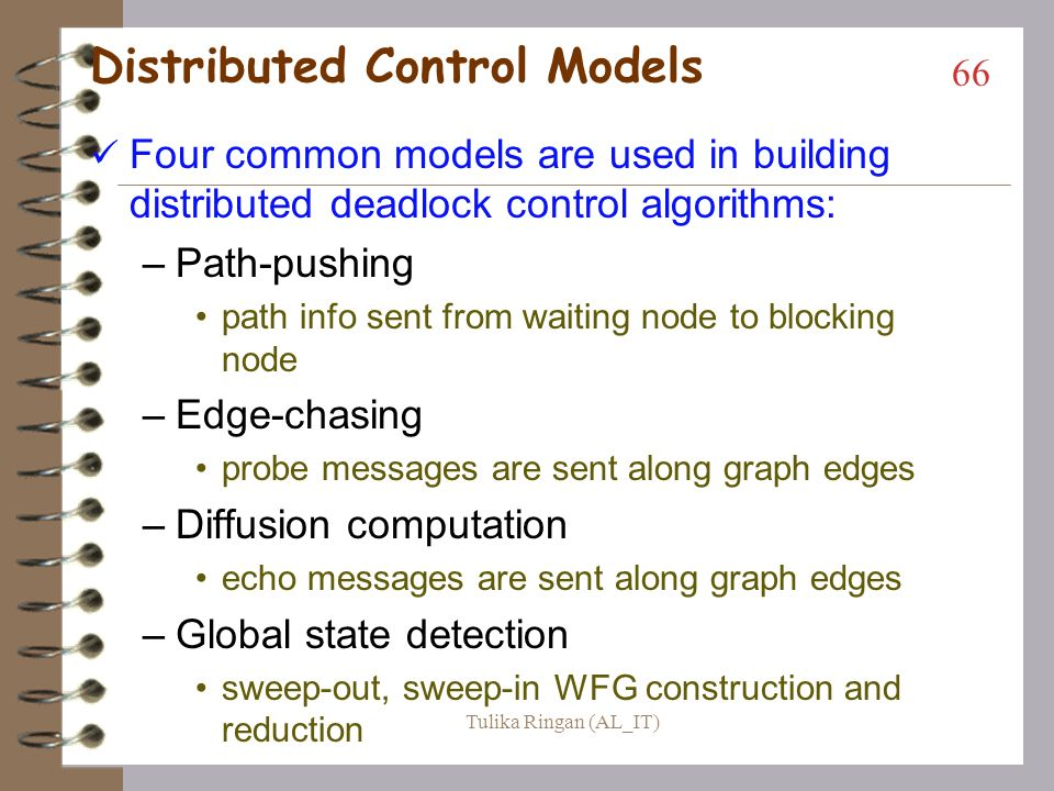 Distributed Control Models