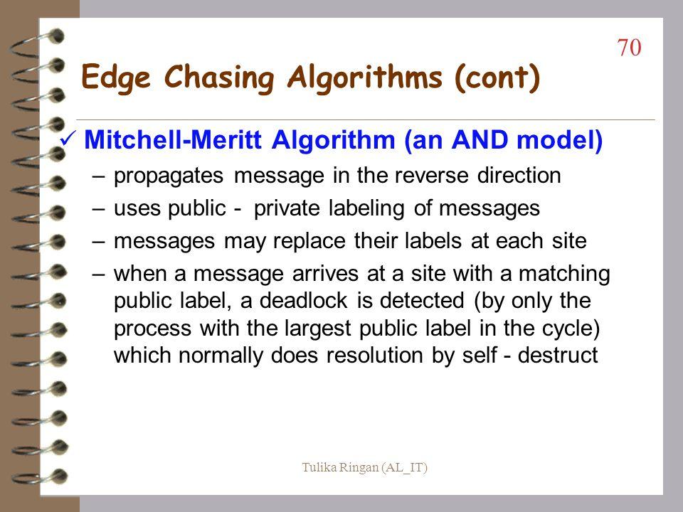 Edge Chasing Algorithms (cont)
