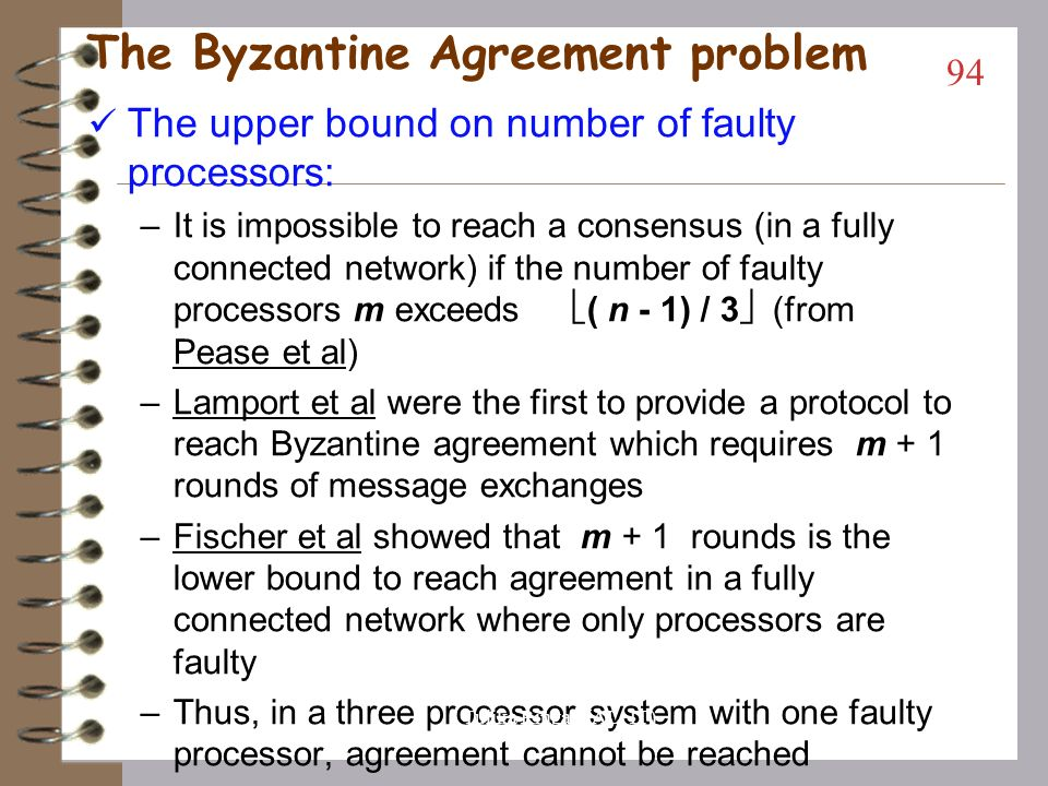 The Byzantine Agreement problem