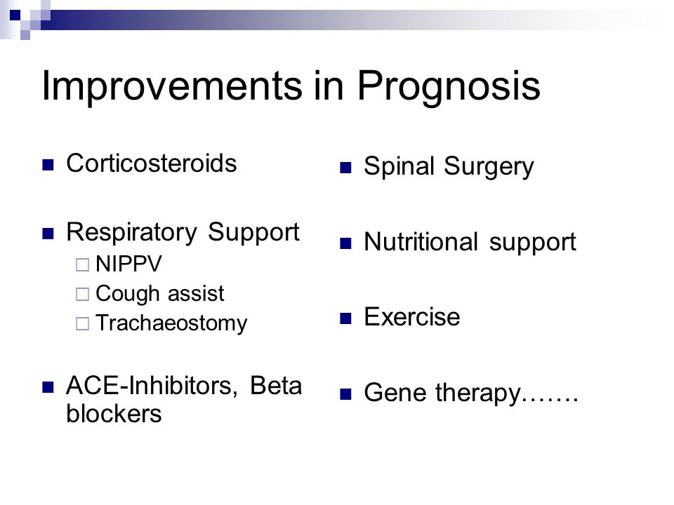 Improvements in Prognosis