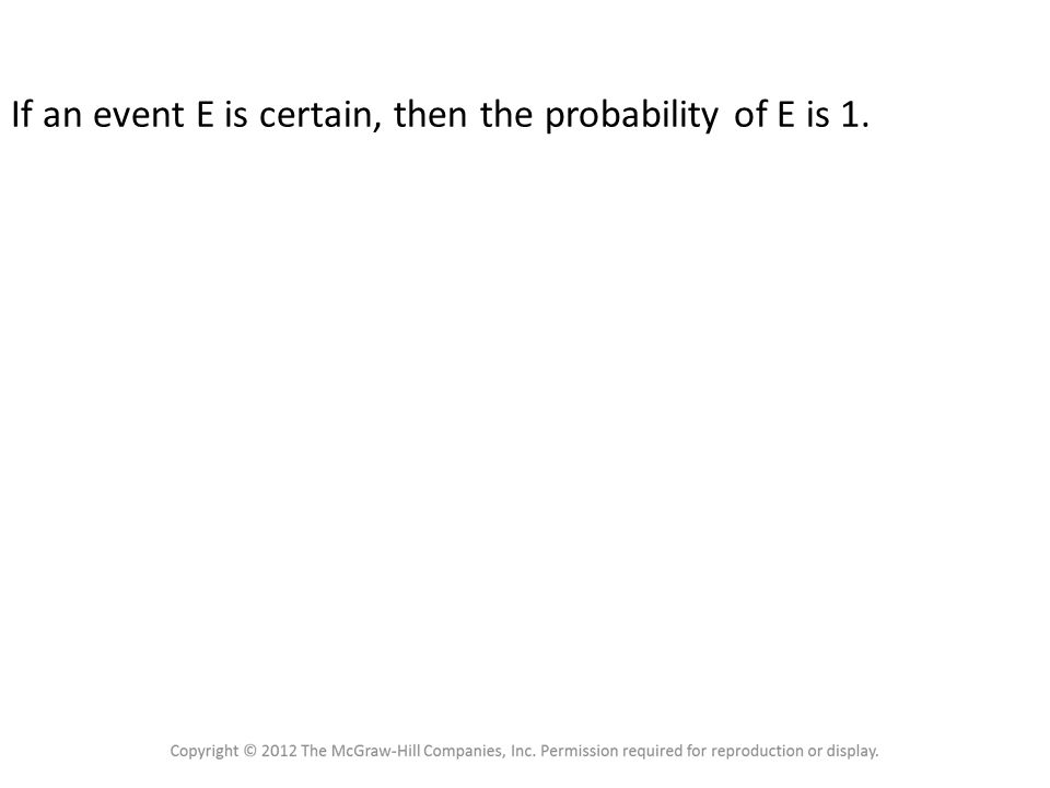 4.1 Sample Spaces and Probability Probability Rule 3